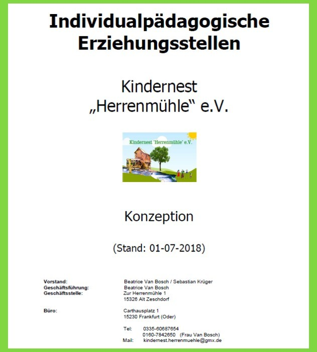 Konzeption Kindernest Herrenmühle